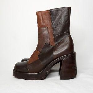 STEVE MADDEN VINTAGE Brown Leather Heel Boot 10